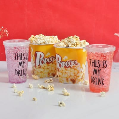 Birthday gifts for brother best birthday gift ideas for brother set of 2 frosty mocktail glasses popcorn tubs negle Images