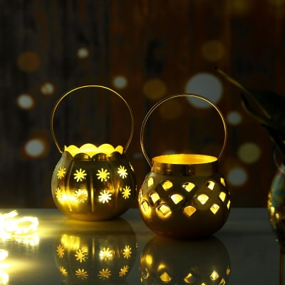 Set Of  2 Hanging Led Lamps