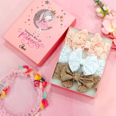 Set of 3 Headbands for Girls in Personalized Box