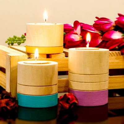 Set of 3 Tea Light Candles