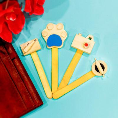 Set of 4 Wooden Bookmarks