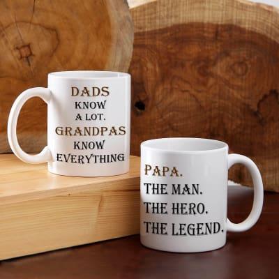 Set Of Two Ceramic Mug For Father