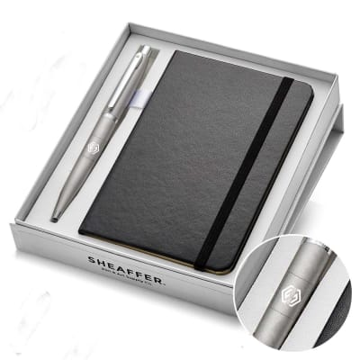 Sheaffer Luxury Notebook And Pen Gift Set - Customised with Logo