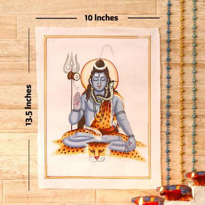 Shivalok Gold Idol Silk Painting
