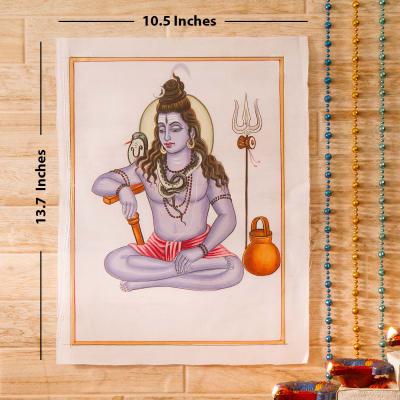 Shivam-Sundaram Idol Silk Painting
