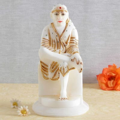 Shree Sai Baba Marble Idol Gift Send Home And Living