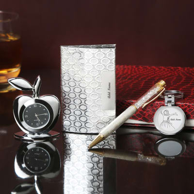 Silver 4 In 1 Personalized Gift Set
