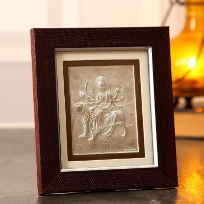 Silver Maa Durga Frame