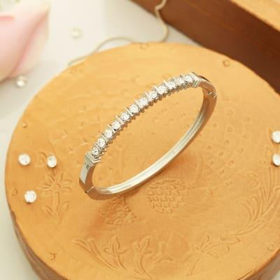 Silver Plated Studded Bracelet