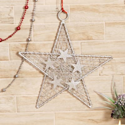 Silver Star Wall Hanging