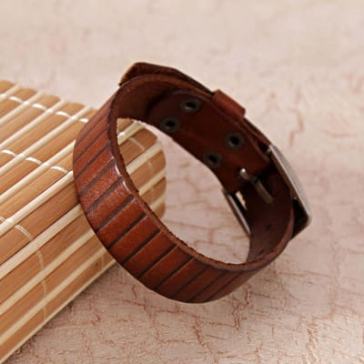 Simple Brown Wrist Band