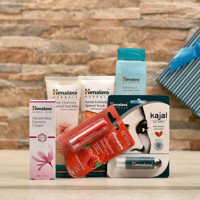 Skin Care Kit with Herbal Kajal and Lip Balm in Gift Box