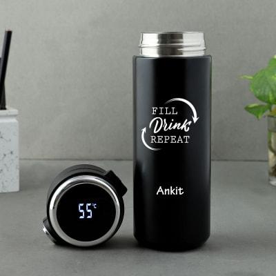 Smart Personalized Stainless Steel Water Bottle (400 ml)