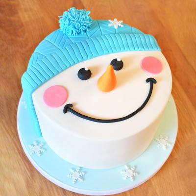 Snowman Fondant Cake (4 kg)