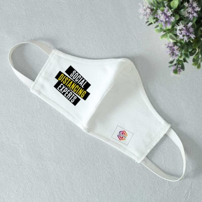Social Distancing Experts 3 Ply Face Mask - Customized with Logo