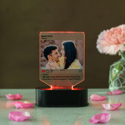 Social Post Themed Personalized LED Photo Frame