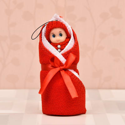 Soft Handkerchief Set of 3 with Cute Doll