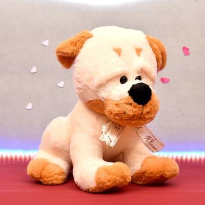 Soft Plush Sitting Dog Soft Toy