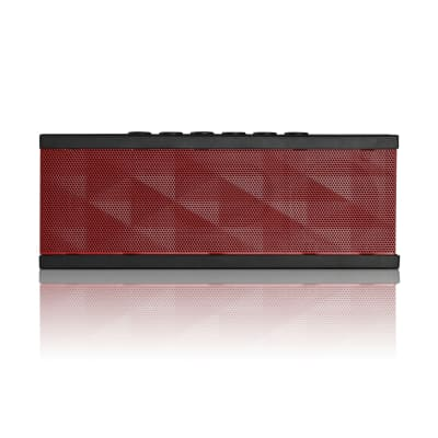 SoundBot SB571 12W Bluetooth Wireless Speaker with HD Bass (Black/Red)