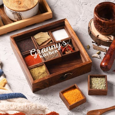 Spicy Squares Personalized Masala Box For Granny