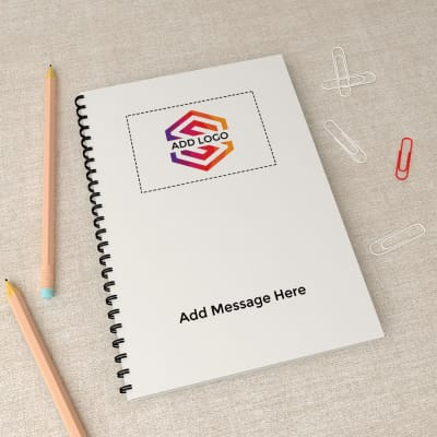 Spiral Notebook - Customizable with Logo And Message