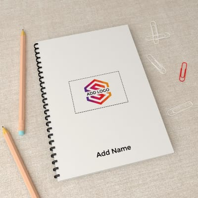Spiral Notebook - Customizable with Logo And Name