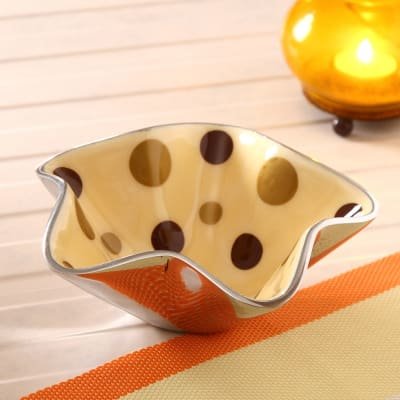 Star Shaped Polka Bowl
