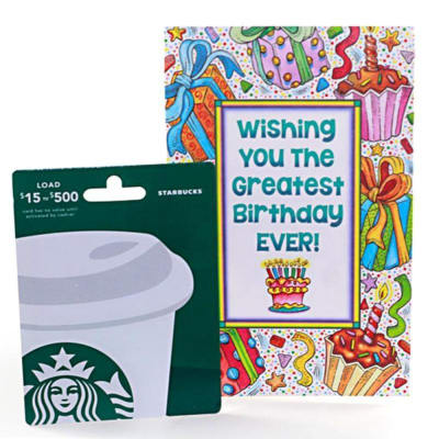 Starbucks 25 Gift Card With Birthday Greeting Send Cards Gifts OnlineUS1023784