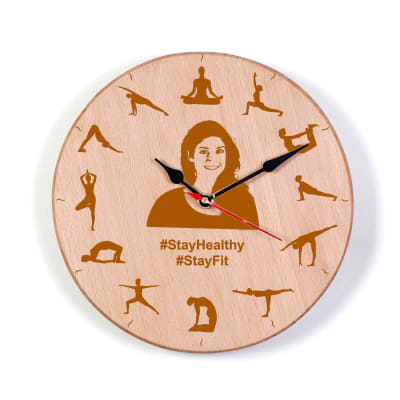 Stay Healthy Personalized Wall Clock
