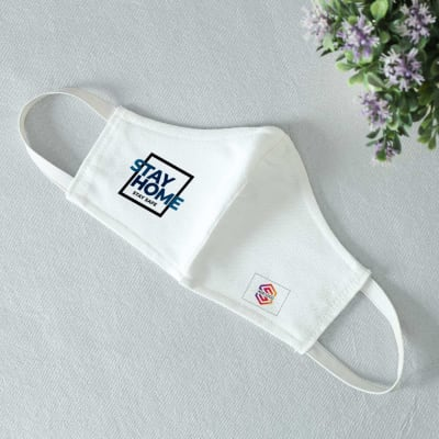 Stay Home 3 Ply Face Mask - Customized with Logo