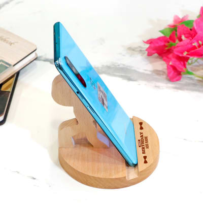 Stick Figure Personalized Mobile Stand for Birthday