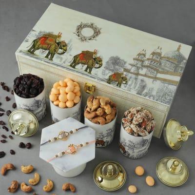 Stone Rakhis with Premium Goodies
