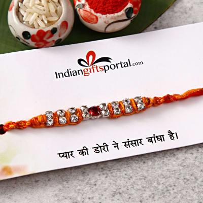 Stone Work  Rakhi Thread
