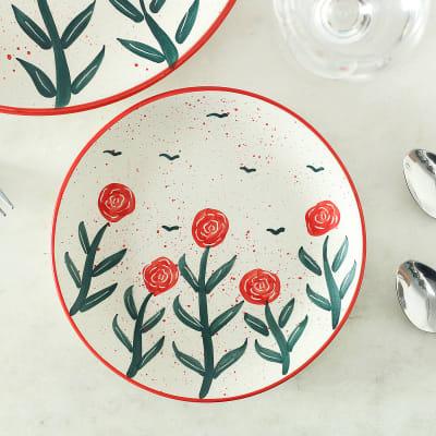 Stoneware Floral Quarter Plate
