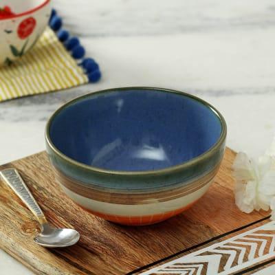 Stoneware Multicolored Bowl