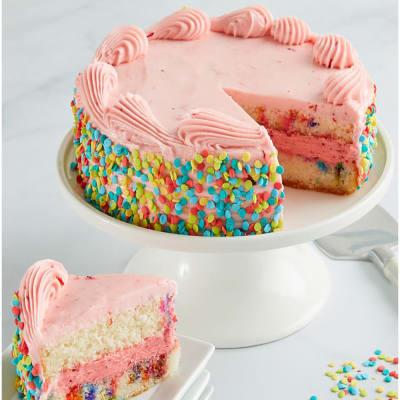 Strawberry Funfetti Cake