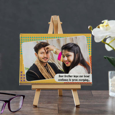 Strong Bond of Brother & Sister Personalized Mini Canvas