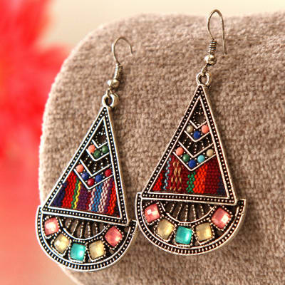 Stylish colored Stone Earrings