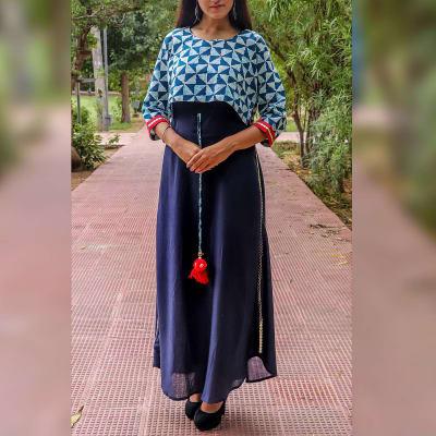 Stylish Indigo Blue Long Dress