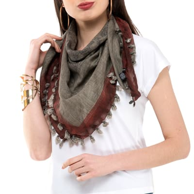 Stylish Silk-cotton Scarf