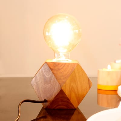 Stylish Wooden Table Lamp