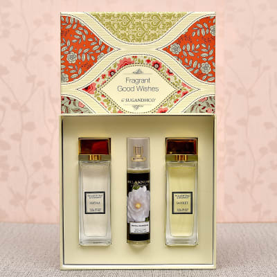 Sugandhco Attar Couple Gift Set Of 2 With Royal Gardenia Air Spray