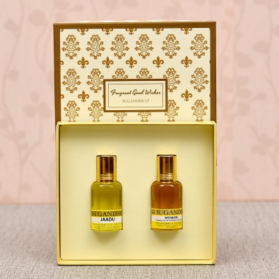 Sugandhco Jaadu & Mehboob Fragrance Attar Couple Gift Set