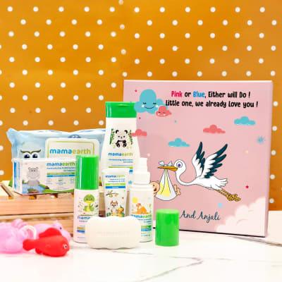 Summer Essentials Personalized Baby Shower Hamper