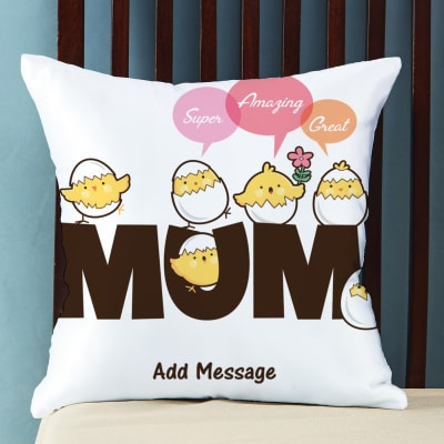 Send mothers day gifts to delhi gifts for mother in delhi igp super amazing great mum personalized cushion negle Gallery