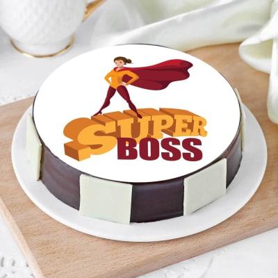 Super Boss Poster Cake (Half Kg)