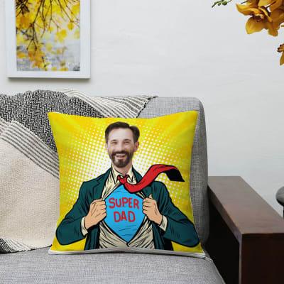Superdad Personalized Cushion