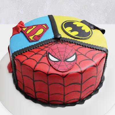 Superhero Themed Fondant Cake (3 Kg)