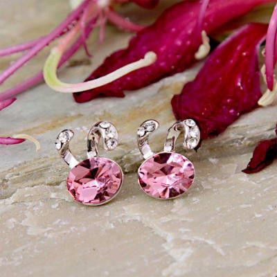 Swarovski Pink Stone Studded Earring