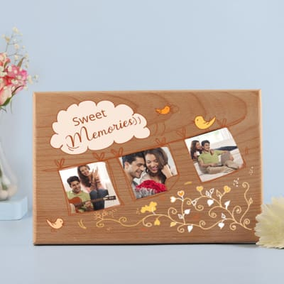 Sweet Memories Personalized Wooden Photo Frame